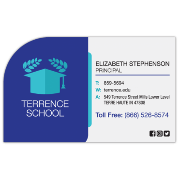 Business Card Magnets Top Left Rounded 3.5
