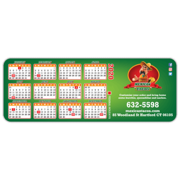 Calendar Magnets Round Corners 3