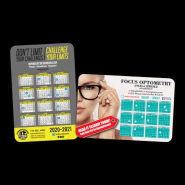 Calendar Magnets Round Corners 4