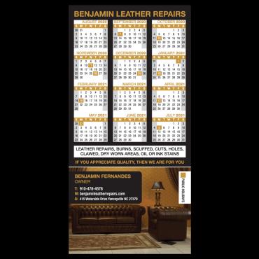 Calendar Magnets Square Corners 3
