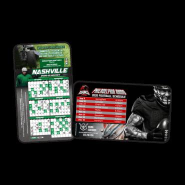 Sports Schedule Magnets Round Corners 7
