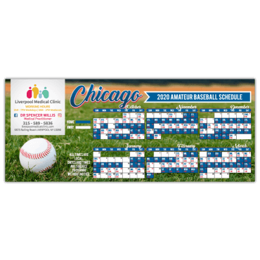 Sports Schedule Magnets Square Corners 8.5