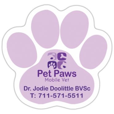 Stock Shaped Magnets Paw Print 2